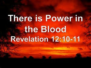 they overcame through the blood of the lamb